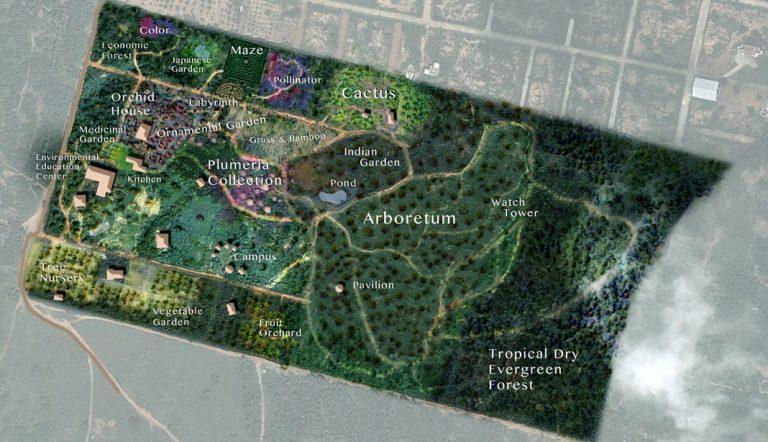 map auroville botanical gardens